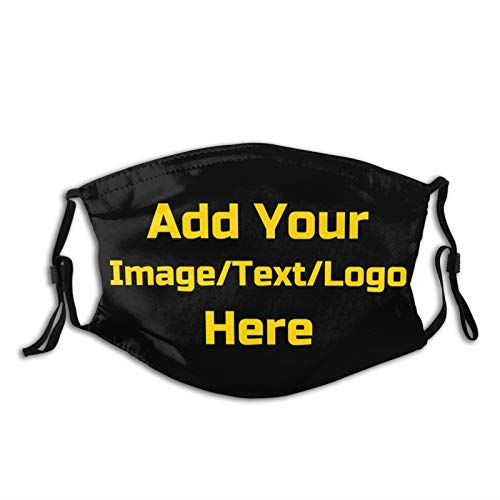 Custom Face Mask - Personalized with Your Design Image Text Logo Adjustable Reusable Face Mask for Man Women Teen Child - Style 1