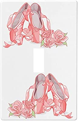 Ballet Slippers And Roses Switch Plate Cover 1 Gang Single Toggle Amazon Com
