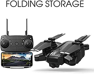 H1 1080P HD Wide Angle Camera RC Drone WiFi Record Video FPV Foldable RC Quadcopter Smart to Return Home for Kids & Beginners (Black)
