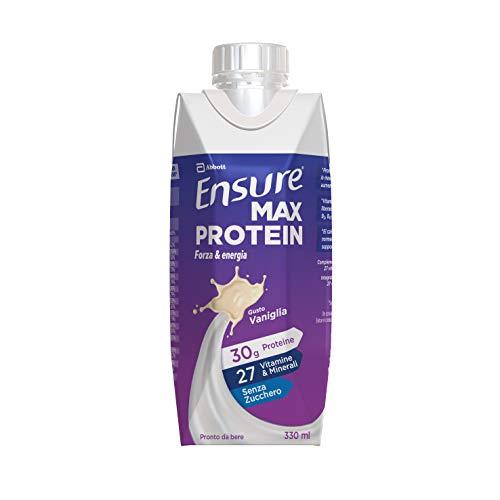Ensure Max Protein Integratore Proteico, Bevanda Proteica, con Proteine e 27 Vitamine e Minerali, Confezione 8 x 330 ml, Gusto Vaniglia