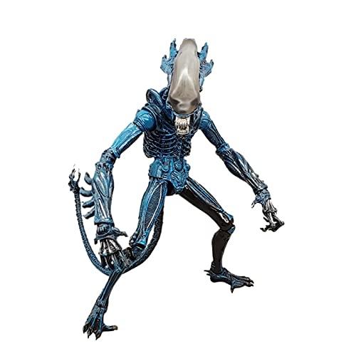 jiamin Alien: Alien Vs.Depredador, Azul Alienígena, Más Dos Máscaras, Más Un Gusano, Cifra De PVC De Colección (versión No Original)