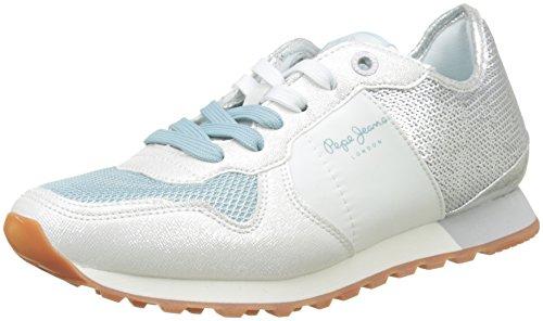 Pepe Jeans London Verona W Sequins, Zapatillas Mujer, Plateado (Silver), 36 EU