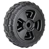 """Heavy-duty plastic wheel for roll-in docks and lifts Designed to roll easily on rough, soft, or uneven terrain Maintenance-free plastic will not rust on shaft 24"""" diameter with 8"""" treads and 1. 98"""" diameter axle opening 800 lbs. capacity per wheel Wo..."""