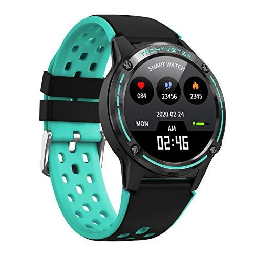 FFF8 Smart Watch Mujeres Hombres con Barómetro De Brújula Deporte Al Aire Libre Fitness Rate Heart Reloj Inteligente (Color : Green)