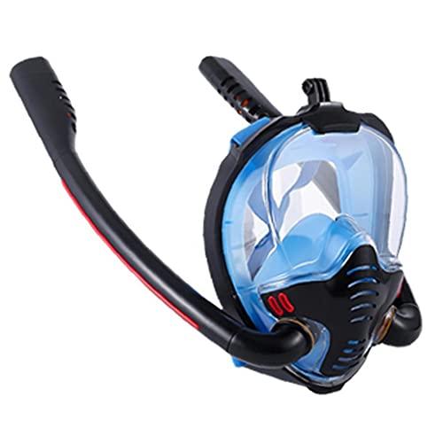 La Cara Llena de Snorkel máscara de respiración fácil máscaras de Buceo para los Adultos o los niños antiniebla Anti-Fugas Negro Azul S M Tamaño