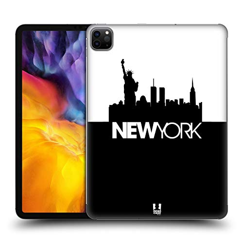 Head Case Designs New York Black And White Skyline S3 Hard Back Case Compatible for Apple iPad Pro 11 (2020)