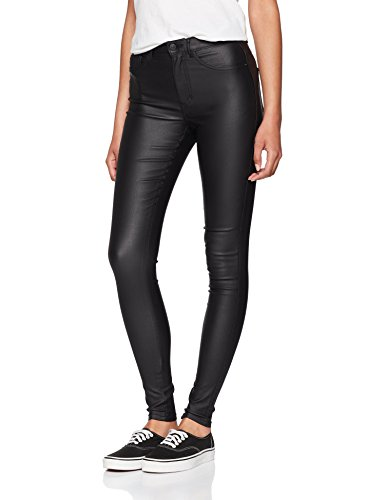 ONLY NOS Damen Skinny Jeans Onlroyal HW SK Rock Coated Pim Noos, Grau (Black), W27/L30