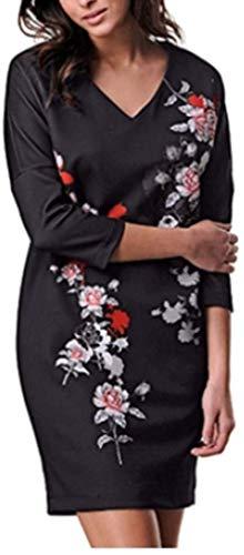 Alba Moda Kleid Druckkleid in Schwarz Gr. 34