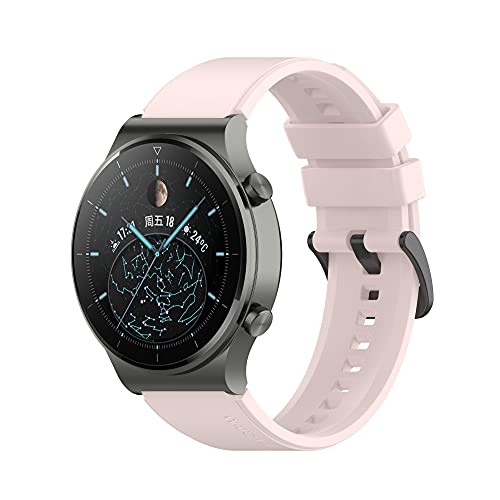 PZZZHF Correa de Pulsera Oficial de Silicona para Huawei Watch GT 42mm46mm SmartWatch Strap para el Reloj Huawei GT2 Pulsera de cinturón de Banda Pro GT2 46mm