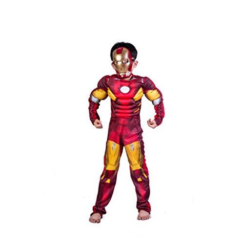 KAKAFASHION - Disfraz de Halloween COS de Rendimiento Muscular para Hombre de Hierro Capitán América Superman Batman Spider-Man Verde Gigante Optimus Prime Series Adecuado para niños S-L 90-13