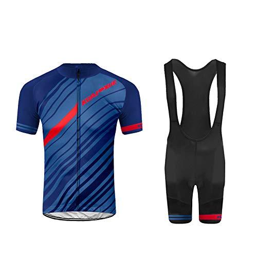 Uglyfrog 2020 Herren Radtrikot Set Atmungsaktiv Quick-Dry Kurzarm Radsport-Shirt + Gel Gepolsterte Shorts