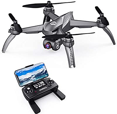 SANROCK B5W GPS Drone with 4K UHD Camera for Adults Beginners, Quadcopter with Brushless Motor, 5GHz FPV Transmission, Auto Return Home, Long Control Range from MJX