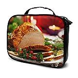 Cena de Navidad Carne Viaje XL Bolsa de Aseo Bolsa de Viaje para niñas Bolsa de Maquillaje Grande Bolsa Impresa multifunción para Mujer