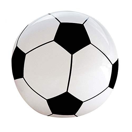 Widmann 01451 - Aufblasbarer Fußball, 25 cm, Farbe: Schwarz/Weiß, Wasserball, Pool Spielzeug, Party Mitbringsel, für Kinder und Erwachsene