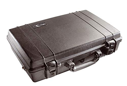 PELI 1490 Shock Resistant Laptop Case, IP67 Watertight, 26L Capacity, Made in US, With Customisable Foam Insert, Black