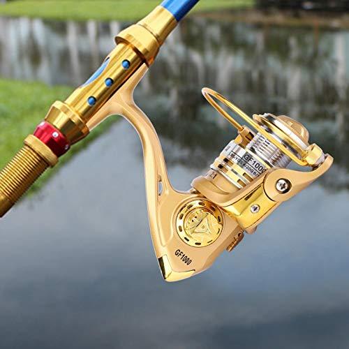 SALUTUYA El Brazo oscilante del Carrete de Pesca se Puede intercambiar con el Interruptor Anti-Retroceso Hermoso y liviano Fácil de almacenar Dorado, para Amantes de la(1000 Type)