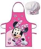 Palleon Minnie Kinder Koch-Set Kochschürze, Handschuh und Kochmütze