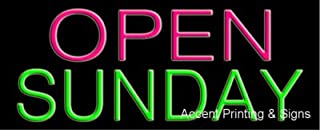 Open Sunday Handcrafted Real GlassTube Neon Sign