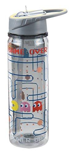 Vandor PAC-MAN 18 Ounce Tritan Water Bottle, Multicolored
