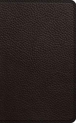 ESV Pocket Bible (Buffalo Leather, Deep Brown)