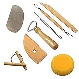 Herramientas de Escultura, 8 Piezas Cuchillo de arcilla Barro Herramientas de Escultura de Arcilla para principiantes, profesionales para Cerámica de Arcilla, Escultura, Bricolaje