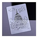 Iusun Painting Stencils White House Stencil - Building Series,Craftly Painting Drawing Mold DIY Printer Drawing Template