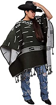 Handwoven Clint Eastwood Spaghetti Western Poncho Made in Mexico  Olive Green