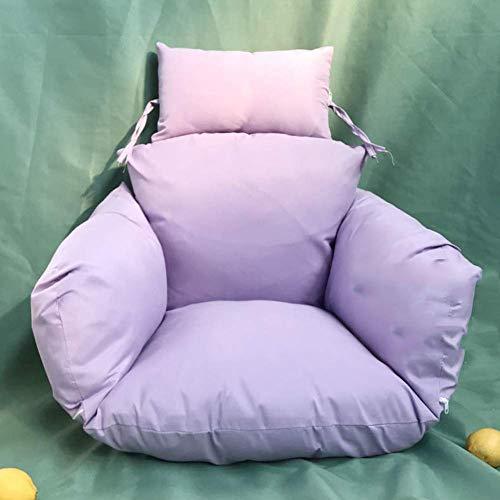 JFFFFWI Swing Cushion for Hanging Chair Thicken Nest Single Basket Cushion Outdoor Garden Warm All-in-One Velvet Seat Cushion-K50x53cm (20x21inch)
