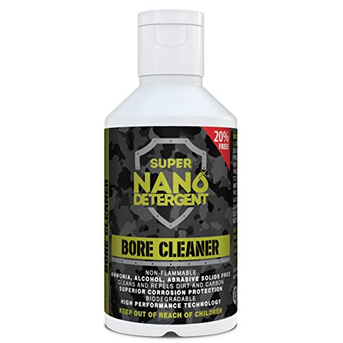 Bore Cleaner Gun-Cleaning Solvent – Super Nano Detergent Cleans & Protects Firearms Using Micro Nanotechnology – Ideal for Guns, Shotguns-Rifles