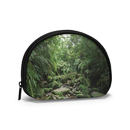 Forest Lush Green Tropical Rainforest In Iriomote Island Okinawa Women Girls Shell Cosmetic Make Up Storage Bag Outdoor Shopping Coins Wallet Organizer