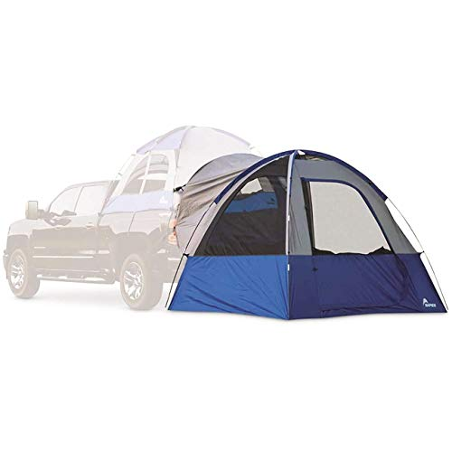 Napier Sportz Link Portable 4 Person Truck Bed Attachment Outdoor Camping Tent with Convenient Carry Bag, Blue (Trunk Tent Not Included)