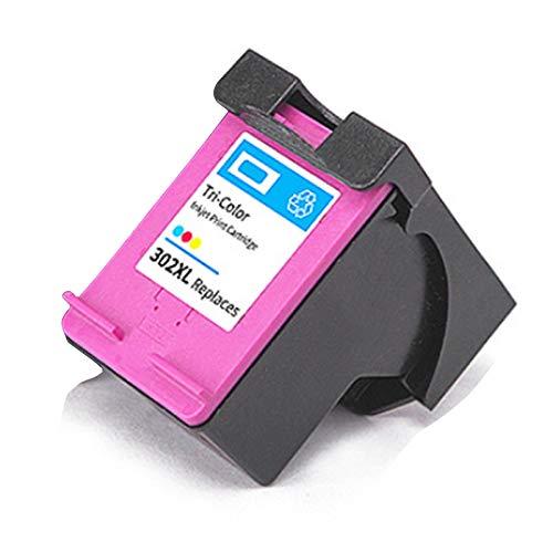 Cartucho de tinta 302XL, reemplazo de alto rendimiento para HP DeskJet 1111 1112 2131 2132 Envy 4510 4511 4520 OfficeJet 3830 4650 5220 5230 Impresora Negro y Tri-Co 1 Tri-Color