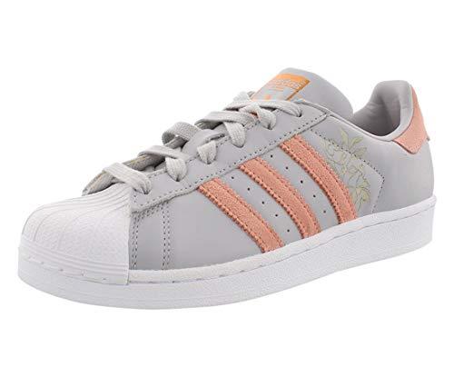adidas Originals womens Superstar Sneaker, Gray/Trace Pink/White, 6.5 US