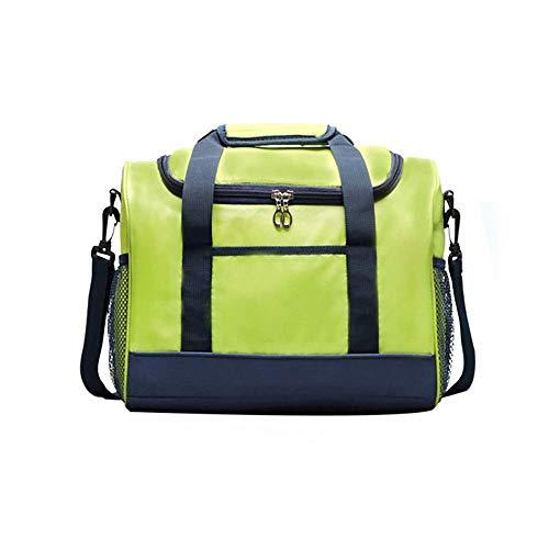 Cesta de picnic Tote Largo Capacidad Suave enfriador de asas Bolsa de almuerzo aislada Bolsa de picnic al aire libre, verde para viaje / picnic / Deportes / Vuelo (Color: Verde, Tamaño: 32.5x27x17cm)