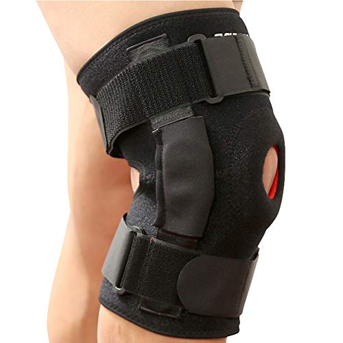 CFR Kniestütze mit seitlichen Stabilisatoren für die Linderung von Gelenkschmerzen, Unterstützung des Ligaments bei der Genesung des Knies, bei der Zerreißung des Meniskus