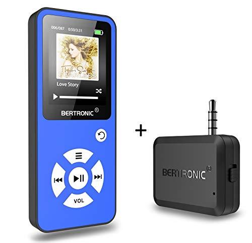 BERTRONIC Made in Germany Royal BC01 MP3-Player mit Bluetooth Adapter - Bis 100 Stunden Wiedergabe | Radio | Portabler Player mit Lautsprecher | Audio-Player für Sport mit 32GB Micro-SD Karte