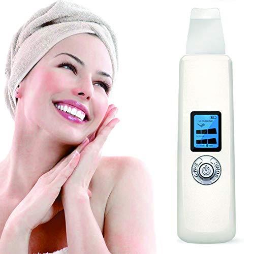 3 In1 Skin Scrubber Épurateur Visage Ultrason pour ION Vibration Nettoyage de Point Noirs Pore et l'Acné USB Rechargeable écran LCD