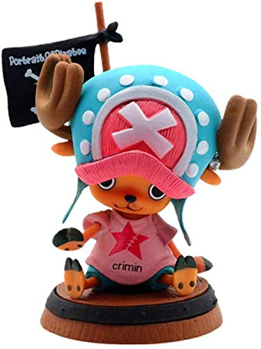 Wstomys Anime Action Figur ONE Pieces Tony Chopper 10cm Animationen Charakter Modell PVC Collection Spielzeug Dekoration Ornamente SammlerstüCke Spielzeug