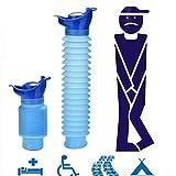 Angoter Inodoro portátil Conveniente Botella del Recorrido del Orinal Masculino niño para IR al baño de los Hombres de Coches Inodoro Urinario vehicular Adulto Que Viaje Camping micción