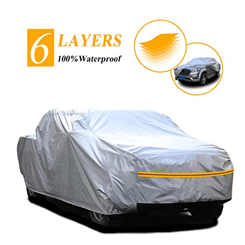 """Autsop Truck Cover, 6 Layers Truck Cover Waterproof All Weather,Outdoor Dust UV Hail Snow Protection Pickup Cover,Universa PK-XL (Fit 242""""to 253')"""