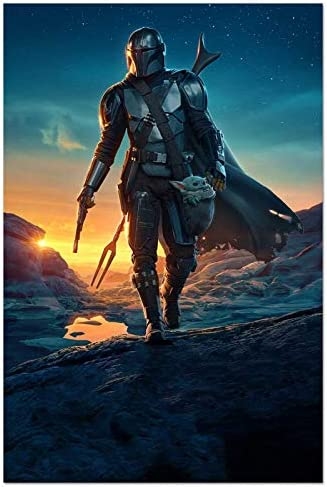FUNHUA Star Wars Poster The Child Mandalorian Poster Canvas Wall Art Prints 12 x 18 TV Series product image