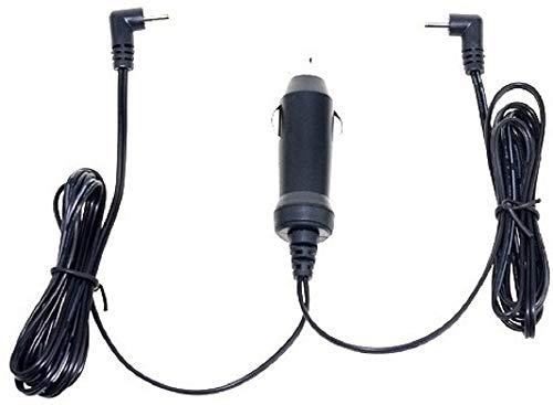 CARGADOR ESP Cargador Coche Mechero 12V Compatible con Reemplazo para Reproductor DVD TV Wolder Free Twin 7.0 con 2 Salidas Recambio Replacement