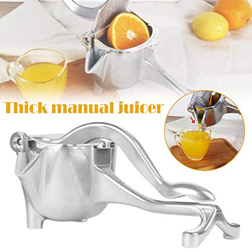 Gizayen Commercial Citrus Juicer Orange Manual Juice Squeezer Heavy Duty Fruit Presser for Pomegranate Lime Grapefruit Juice Stainless Steel Extractor Cast Iron Body - Bonus Shared Skimmer Spoon