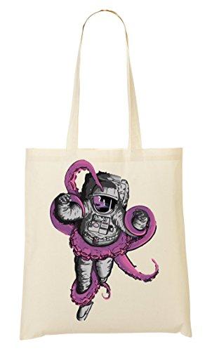 CP Squid Vs Astronaut | Space Odyssey | Great Universe | Popular Battle | Cool T Shirt | Yolo Swag Bolso De Mano Bolsa De La Compra