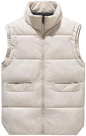 LYLY Vest Women Men's Winter Vests Waistcoat Thicken Sleeveless Jackets Warm Windproof Parkas Casual Coats for Unisex Travel Vest Vest Warm (Color : White, Size : M)