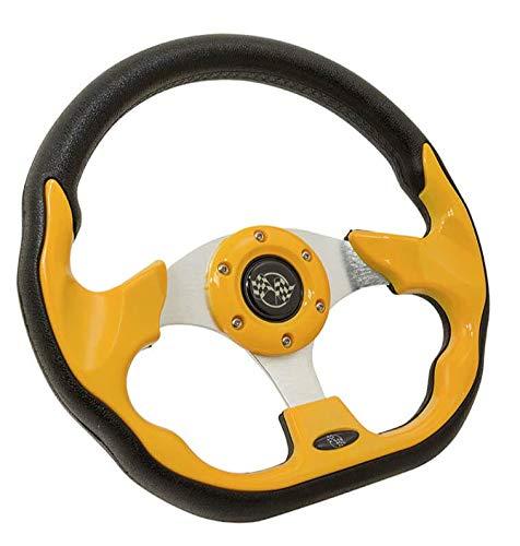 Yellow Racer Style Steering Wheel