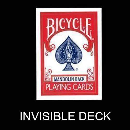 Trucchi con le carte Mazzo Invisibile - Invisible Deck Bicycle Mandolin - Dorso Rosso Giochi di Prestigio e Magia