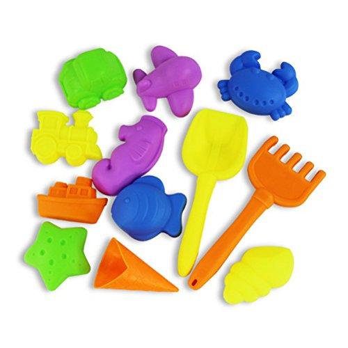 Toyvian Kinder Strandspielzeug Castle Sand Tools Mold Sandbox Kits 12 Stück
