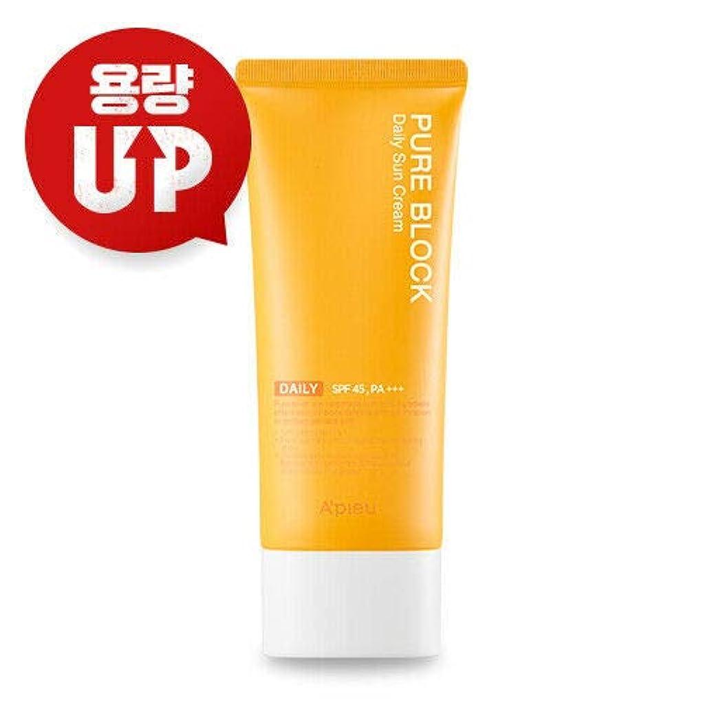 ウィスキーブラウズ動くA'PIEU オピュ ピュアブロックナチュラル サンクリーム APIEU PURE BLOCK Natural Sun Cream 100ml SPF45/PA+++