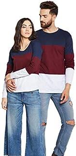 The Dry State Couple's Cotton Multicolour Tshirt CCCBB84G124-$P
